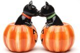 Black Cats in Jack O Lanterns Salt & Pepper Shakers