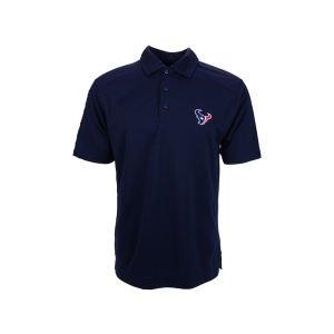 NFL Houston Texans Men's Drytec Genre Polo Knit Short Sleeve Top, Navy Blue, XXX-Large