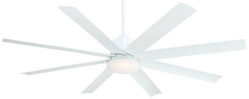 "Minka-Aire F888-WHF, Slipstream Flat White 54"" Ceiling Fan with Light & Remote Control"