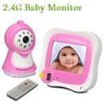 "2.4Ghz Wireless Baby Monitor & Wireless Camera With 3.5"" Tft Lcd Screen And Remote Control (Pink) front-327164"
