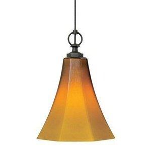 Wilmette Lighting 600Fjmdlwaz-Led 1Lt 12-Volt Mini Delaware Freejack Led Pendant, Antique Bronze Finish With Amber Glass