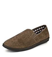 Freshfeet™ Slip-On Checked Slippers with Silver Technology