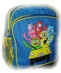 Yo Gabba Gabba Toddler Backpack (small) - Featuring Foofa, Muno, Toodee, Brobee and Plex Riding the Plex Buggy Vehicle