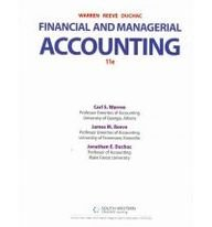 Financial & Managerial Accounting - Working Papers 1-15 (11th, 12) by Warren, Carl S - Reeve, James M - Duchac, Jonathan [Paperback (2011)]