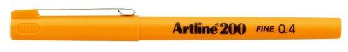 Artline 200 Lot de 12 feutres fins Pointe ogive 0,4 mm Jaune