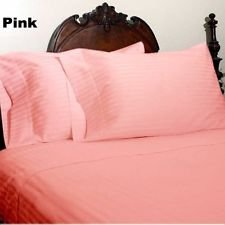 Luxurious Italian 800 Tc 3Pc Duvet Cover Set Pink Stripe Choose Size Sale-117