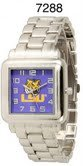 NCAA Officially Licensed LSU Tigers Mens Metal Square-faced Wristband Watch by Time World