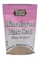 Foods Alive Himalayan Pink Salt Fine Ground Raw
