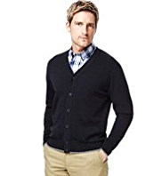 Blue Harbour Pure Cotton V-Neck Cardigan