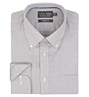 Pure Cotton Twin Striped Oxford Shirt