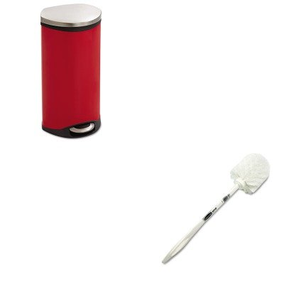 KITRCP631000WESAF9902RD - Value Kit - Safco Step-On Medical Receptacle (SAF9902RD) and Rubbermaid Toilet Bowl Brush (RCP631000WE) kitmmmc60stpac103637 value kit scotch value desktop tape dispenser mmmc60st and pacon riverside construction paper pac103637