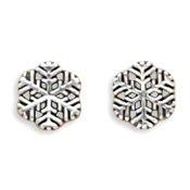 Sterling Silver Earrings Posts Studs Snowflake