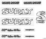 Surly Karate Monkey Frame Decal Set with Headbadge