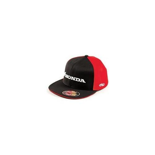 7dec025404143 Factory Effex Honda FlexFit Hat Large X Large Black Red Automotive