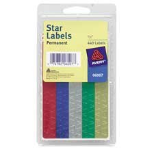 Avery 0.5-Inch DiameterAssorted Foil Star Labels, Pack of 440 (6007)