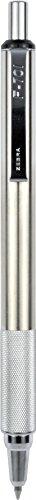 Zebra F-701 Stainless Steel Ballpoint Retractable Pen, Black