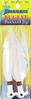 Hurricane Bugeye Bucktail Jig, 1/2-Ounce, White apex jig heads pack of 20 1 4 ounce chartreuse green