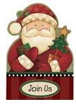 Cozy Santa Christmas Invitations 20ct