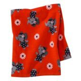 Carter's Just One You Infant Toddler Girls' Swim Towel Navy/Orange Daisy Elephant - 1