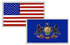 State Flag Reflective Decals