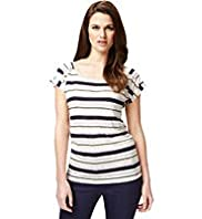 Autograph Pure Linen Striped T-Shirt