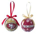 Nfl Licensed Led Light-Up Ornament Set Of 2 (San Francisco 49Ers)