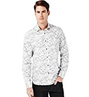 XXXL Autograph Pure Cotton Graphic Floral Shirt