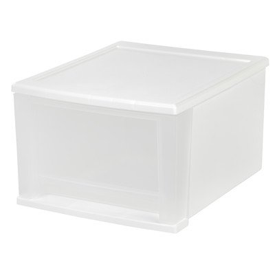 IRIS SD-30 Stacking Drawer, Medium, White/Clear (Iris Usa Inc compare prices)