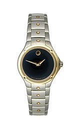 Movado S.E. Two-Tone Black Museum Dial Women's Watch #0605911
