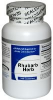 Rhubarb (100 Capsules) - Concentrated Herbal Extract - Dietary Supplement