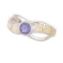 Morningflower Tanzanite and Opal Inlay Ring