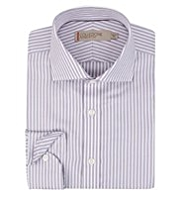 Collezione Pure Cotton Satin Striped Shirt