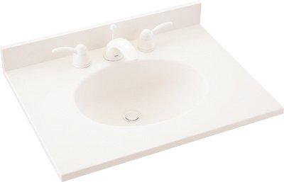 Swanstone VT1B2243-010 Ellipse 43-Inch by 22-Inch Vanity Top, White Finish