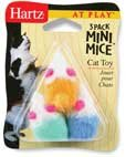 HARTZ MOUNTAIN #32700-95987 3PK Mini Mice Cat Toy