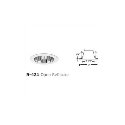 "4"" Line Voltage Recessed Trim With Open Reflector And Optional Housing Finish: White"