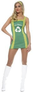 Go Go Green Girl Adult Halloween Costume Size 12-14 Large