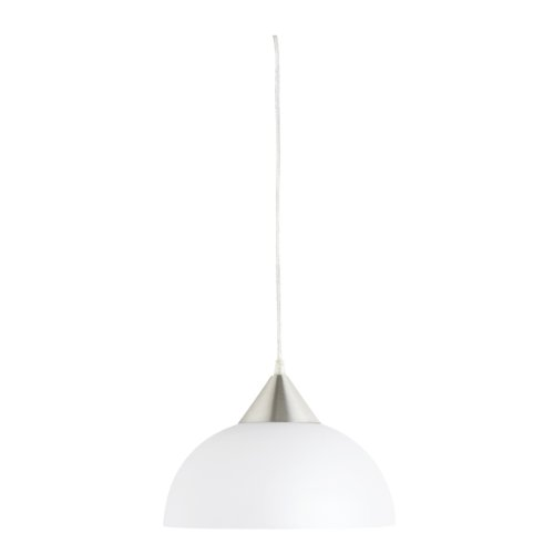 Globe Electric 64413 11-Inch Portable Hanging Pendant Light Fixture with 15-Foot Cord, White