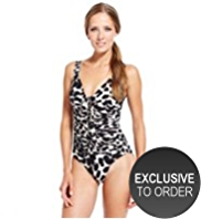 M&S Collection Animal Print Lace Up Swimsuit