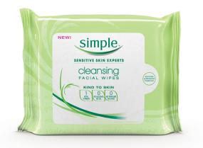 Simple Cleansing Facial Wipes 25 Count
