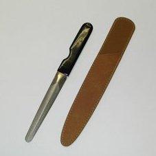 柄沢ヤスリ つめヤスリ ケース付 モカ 【爪の曲線に合わせて、ヤスリにカーブをつけました。使いやすさは抜群です。】