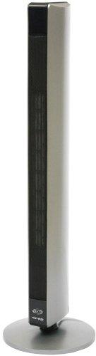 Termoventilatore Argo Hi Fan White Design hi-tech Stufetta elettrica a torre design tipo altoparlanti dolby surround finitura silver-nero lucido 2 livelli di potenza: min. 1500 W - max. 2500 W Oscillazione automatica di 90° Timer Filtro antipolline