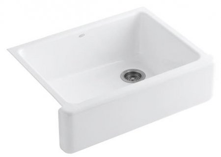Discover Bargain Kohler K-6487-0 Whitehaven Self-Trimming Apron Front Single Basin Kitchen Sink with...