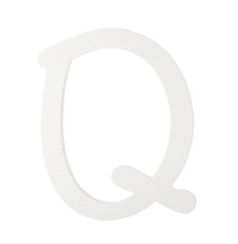 Darice 9188-Q White Wood Letters, Q, 9-Inch - 1