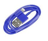 PractiCellular [TM]Data Charger Sync Cable Wire 8 Pin to USB For iPhone 5 1M 1 Meter Color (Dark Blue)
