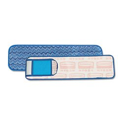 Rubbermaid Commercial Wet Pad With Scrubber, Nylon/Polyester Microfiber, 18 Inches Long, Blue (Q415Be) front-87928