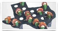 Texas Shaped 24 Hole Stuffed Jalapeno Popper Rack For The Grill, Bbq, Smoker Or Oven