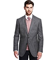 Big & Tall Collezione Pure Wool 2 Button Puppytooth Jacket