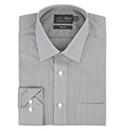 2in Longer Cotton Rich Non-Iron Slim Fit Striped Shirt