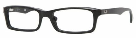 Ray-Ban RX5178 Eyeglasses (2000) Shiny Black 53 mm