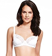 Per Una Orchid Embroidered Non-Padded B-DD Bra
